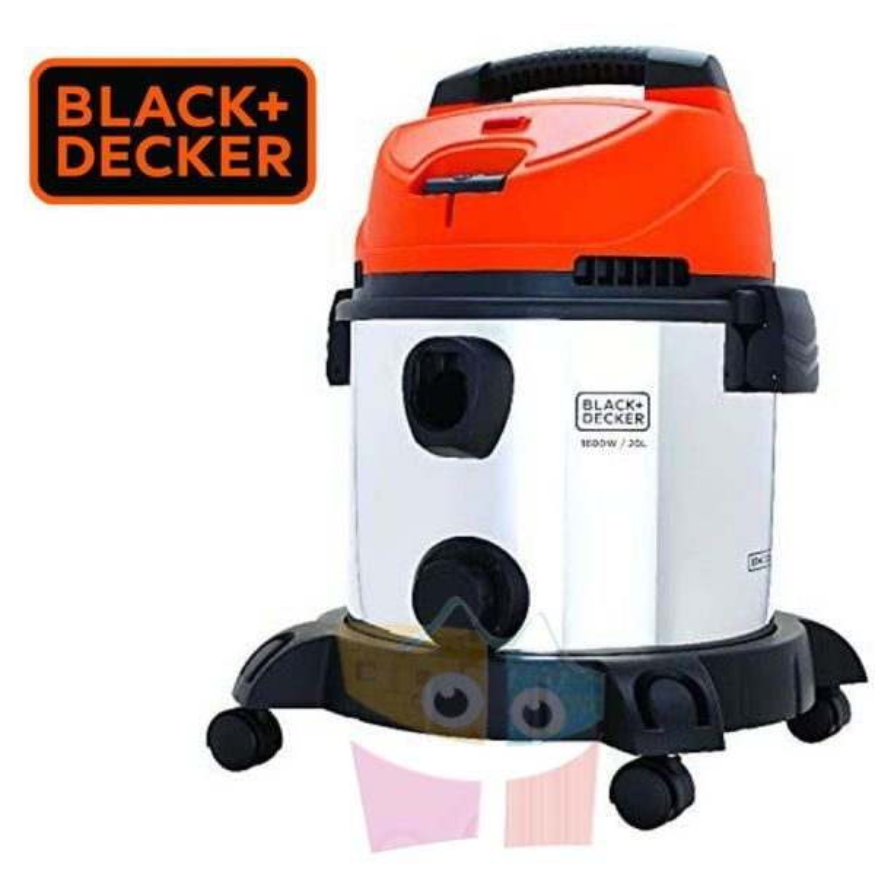Aspiradora y Sopladora de Polvo y Agua  1600 W - 20L - Black+Decker - BDWDS20-AR