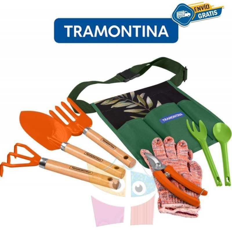 Kit de Jardineria de 8 piezas - Embalaje litografiado - Tramontina