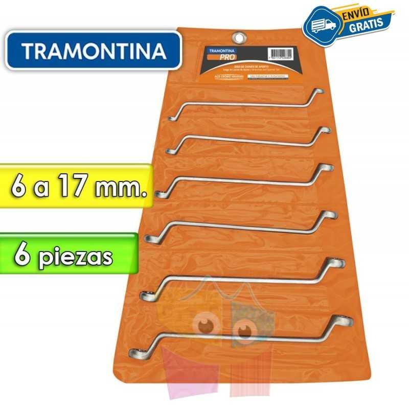 Juego de Llaves Estriadas - 6 Piezas - Tramontina PRO - 6 a 17 mm