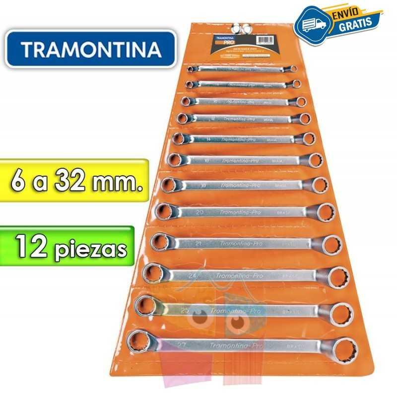 Juego de Llaves Estriadas - 12 Piezas - Tramontina PRO - 6 a 32 mm