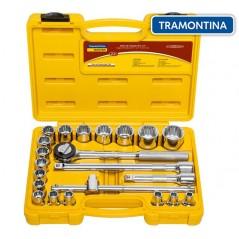 Kit de Llaves Tubo y Dados Estriados - 22 piezas - Tramontina Master - 8 a 32 mm