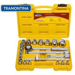 Kit de Llaves Tubo y Dados Hexagonales - 22 piezas - Tramontina Master - 8 a 32 mm