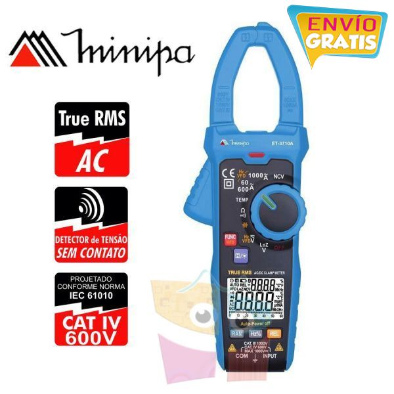 Pinza Amperimetrica - Minipa - ET-3710A - True RMS AC / VDC 1000V / VAC 1000V / ADC 1000A