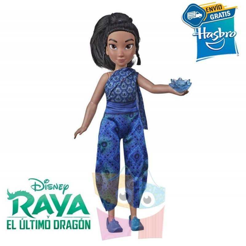 Muñeca Joven Raya y Flor de Kumandra - Raya y el Ultimo Dragon - Hasbro - Disney