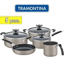 Juego de ollas de aluminio - 5 piezas - Tramontina - Cordoba Beige