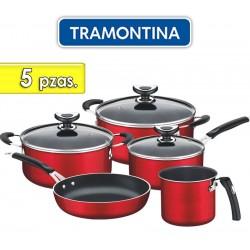 Juego de ollas de aluminio - 5 piezas - Tramontina - Cordoba Rojo