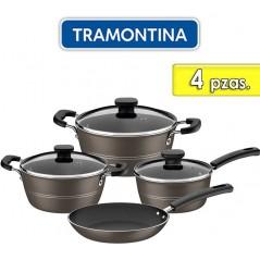 Juego de ollas de aluminio - 4 piezas - Tramontina - Sicilia Marron