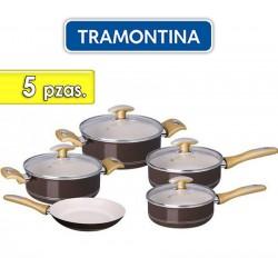 Juego de ollas de aluminio - 5 piezas - Tramontina - Tonalite Marron