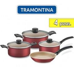 Juego de ollas de aluminio - 4 piezas - Tramontina - Turim Bordo