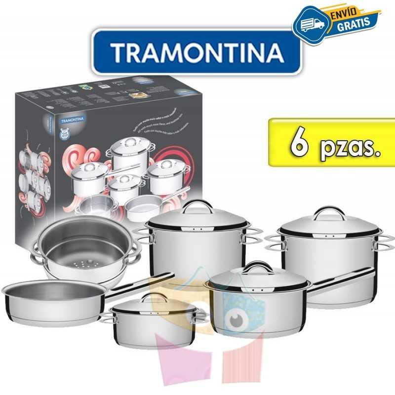Juego de ollas de Acero Inoxidable - 6 piezas - Tramontina - Solar