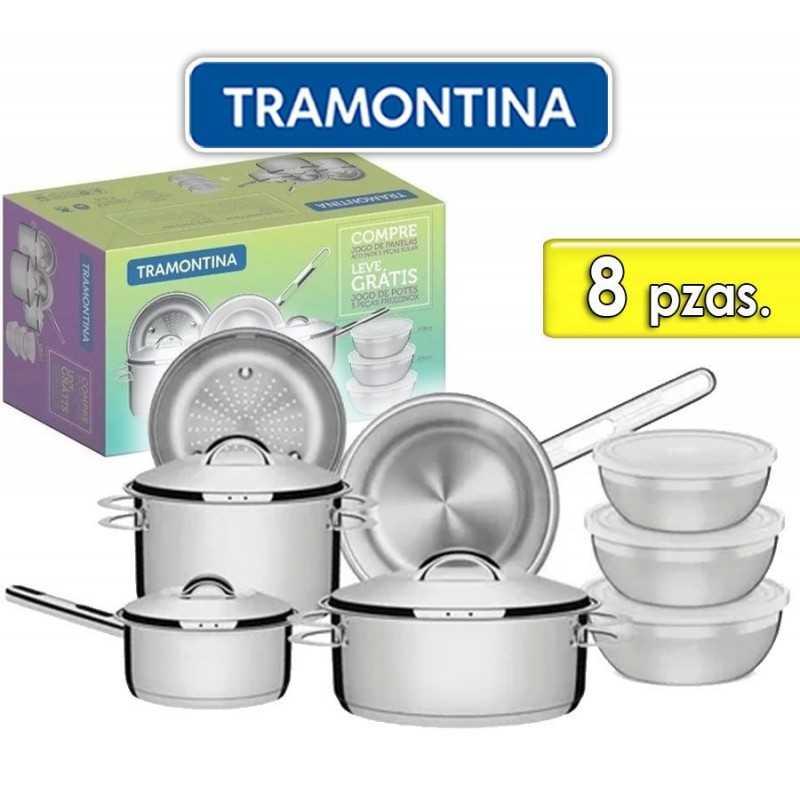 Juego de ollas de Acero Inoxidable - 8 piezas - Tramontina - Solar