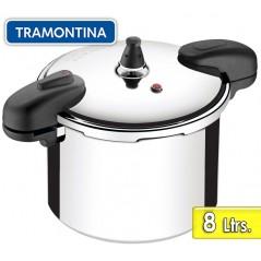 Olla a Presion de Aluminio Pulido - 8 litros - Ø 24 cm - Tramontina - Valencia