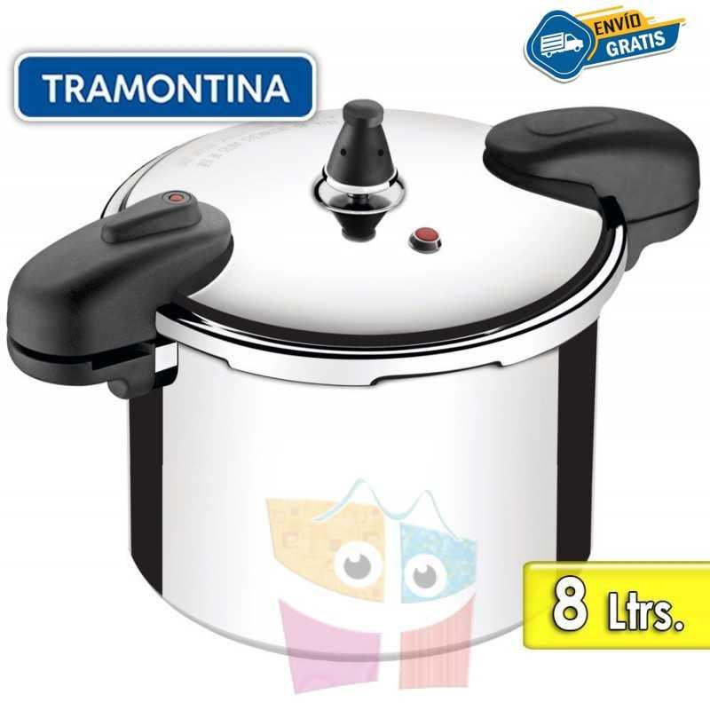 Olla a Presion de Aluminio Pulido - 8 litros - 24 cm - Tramontina - Valencia