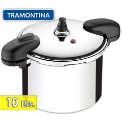 Olla a Presion de Aluminio Pulido - 10 litros - Ø 24 cm - Tramontina - Valencia