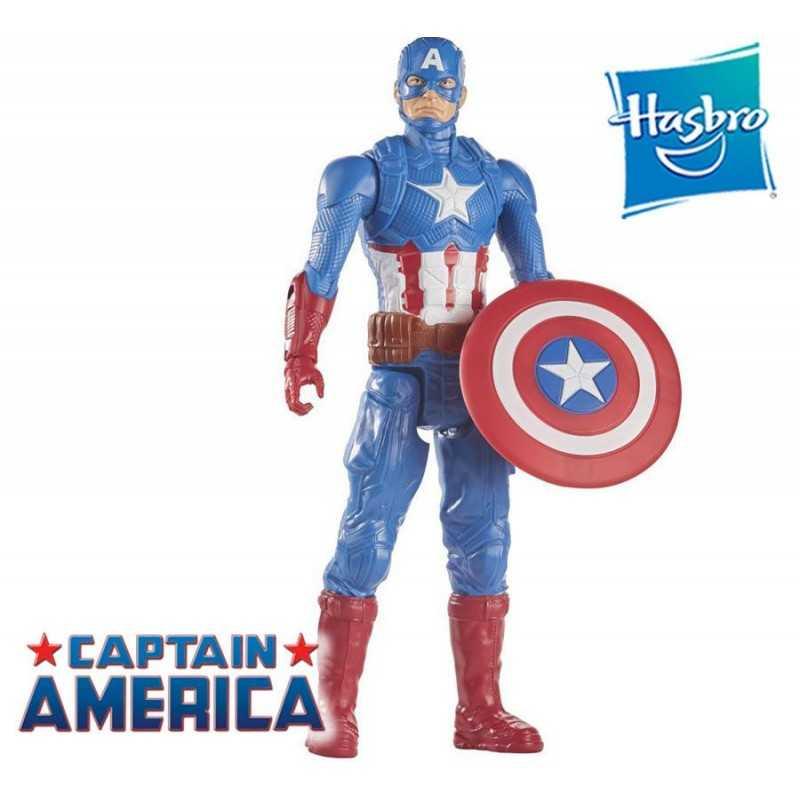 Muñeco Capitán América Marvel 30 cms - Hasbro - Titan Hero Series Marvel Avengers