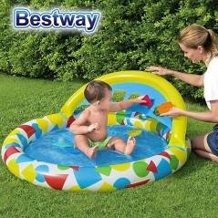 Piscina Infantil Inflable con Juguetes - 45 Lts - 1,20 x 1,17 x 0,46 Mtr - Bestway + Inflador