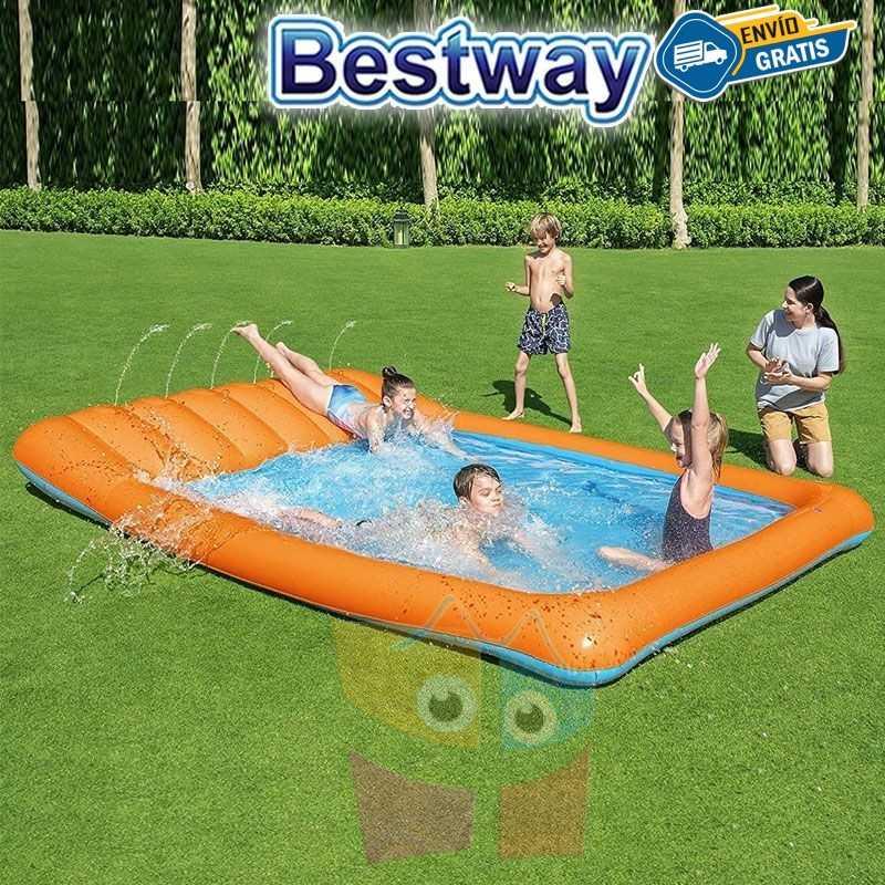 Pista Deslizante con chorro de agua - 3,4 Mtr - Bestway - Tobogan de Agua + Inflador