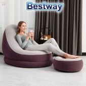 Sofa Puff Inflable - 1,22 x 0,94 x 0,81 Mtrs - Bestway - Comfort Cruiser Ciruela Oscuro + Inflador