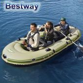 Bote Inflable con remos - 3,48 x 1,41 Mtrs. - Bestway - Voyager 500 Hydro-Force