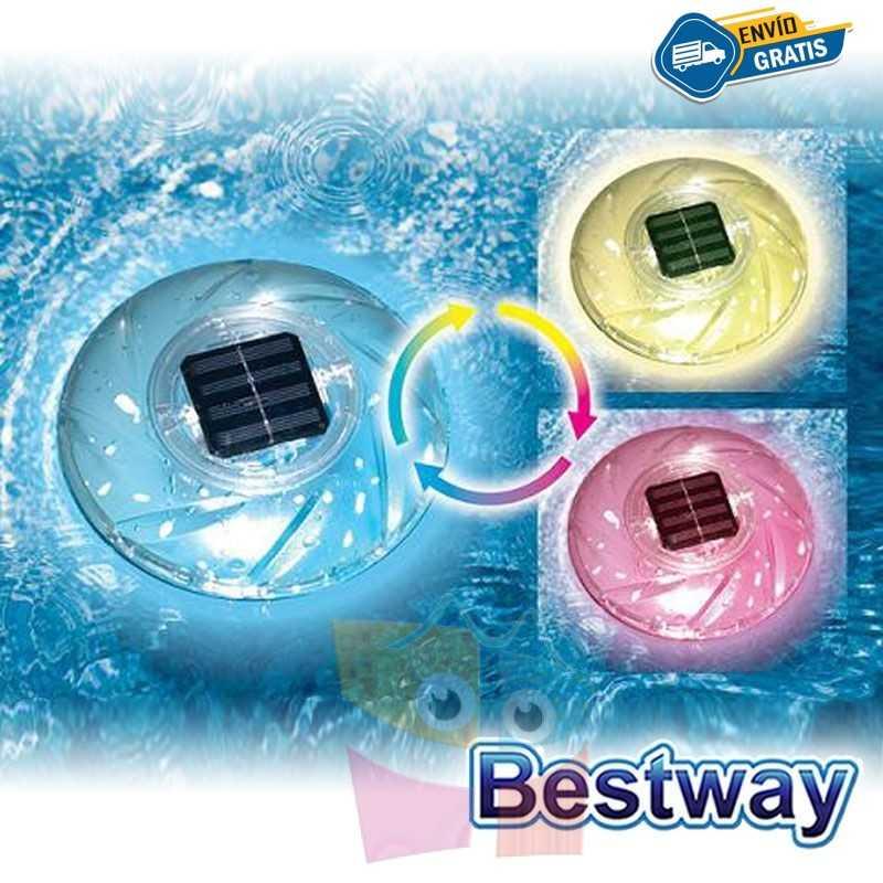 Luz Multicolor Solar Flotante para Piscina - Bestway - Flowclear