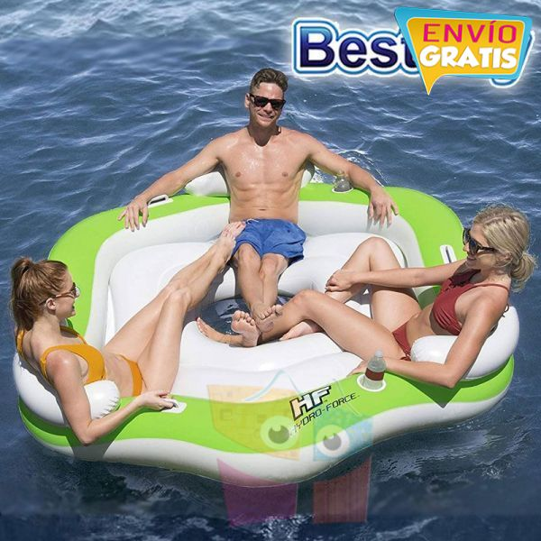 Isla Inflable - 1,91 x 1,78 Mtr - Bestway - X3 Island Hydro-Force + Inflador