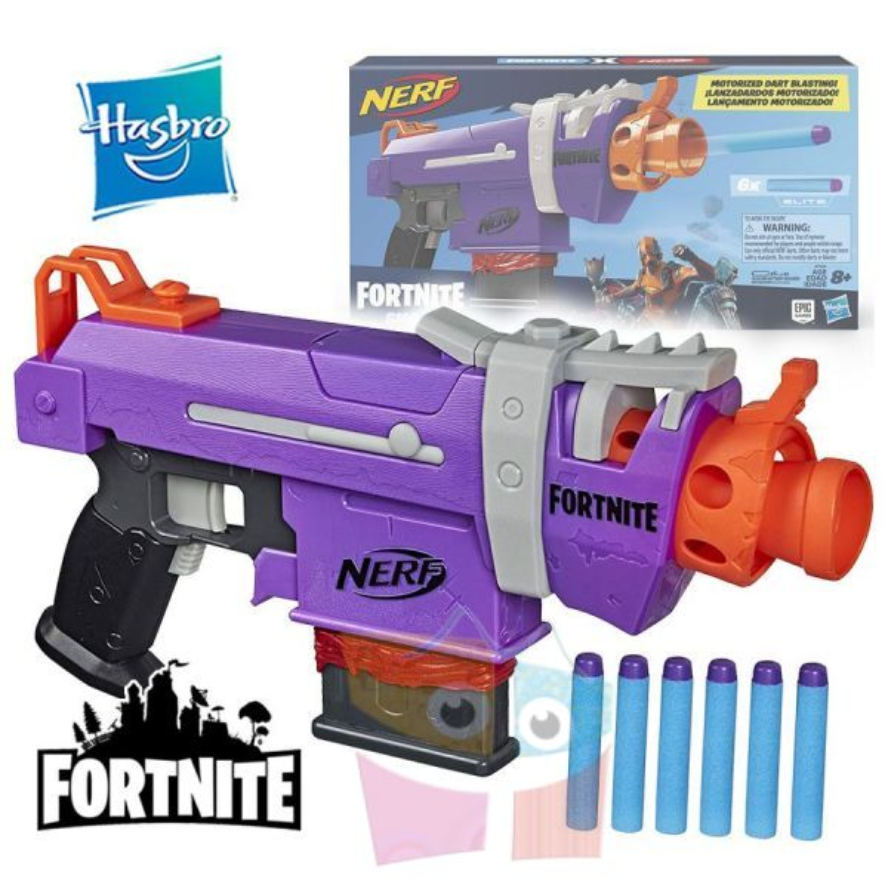 Lanzador Motorizado Nerf Fortnite Dart Blaster FN SMG - Hasbro