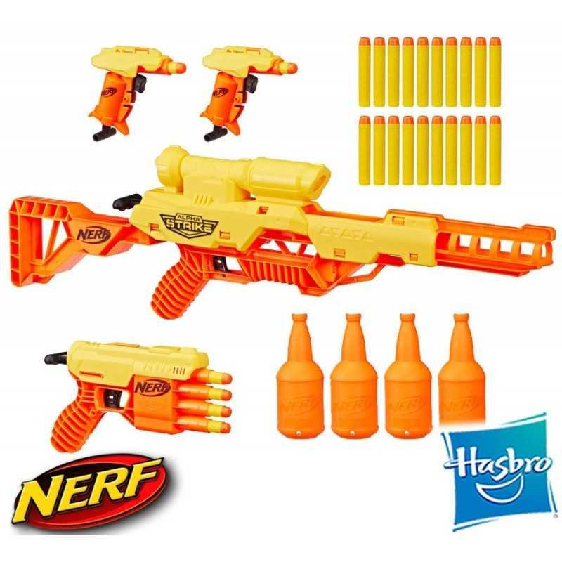 Set Batallon Nerf Alpha Strike de 33 piezas - Hasbro