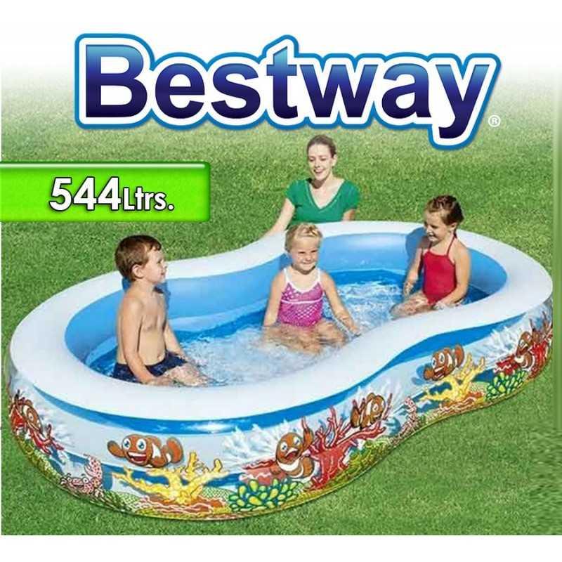 Piscina Bestway - 54118B - 544 Ltrs. Infantil - Inflable + Inflador