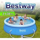 Piscina Bestway - 57109 - 3.638 Ltrs. - Redonda - Con borde inflable + Inflador