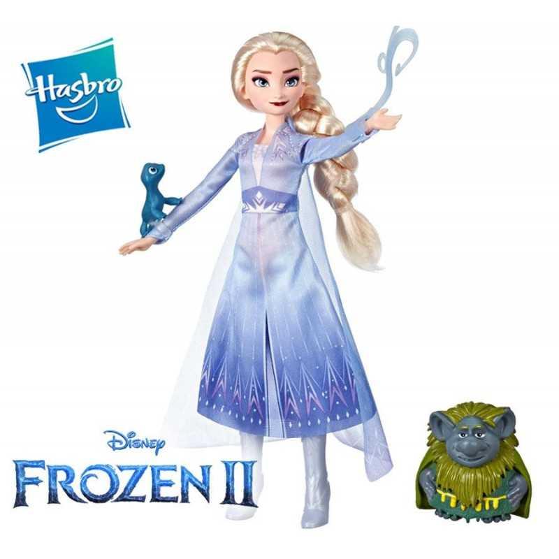 Muñeca Elsa con Pabbie y Salamandra - Frozen 2 - Disney Princess - Hasbro