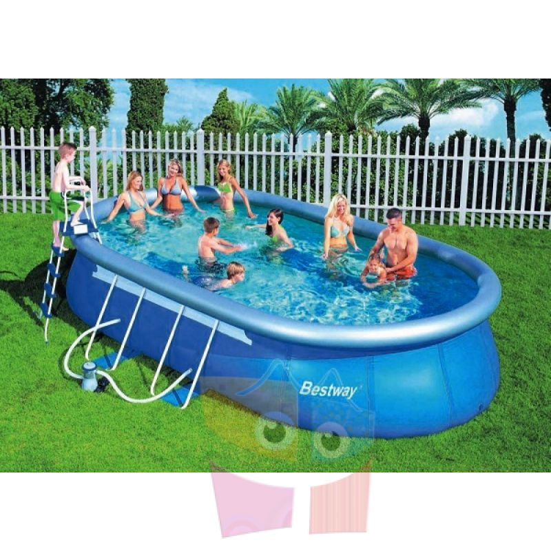 Piscina bestway ltrs ovalada con borde for Piscina inflable bestway