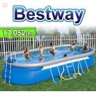 Piscina Bestway - 17.052 Ltrs. - Ovalada - Con borde inflable + Inflador - 56119