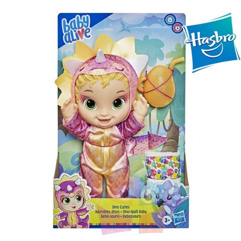 Bebé Saurio Tricerátops Rubia - Baby Alive - Hasbro