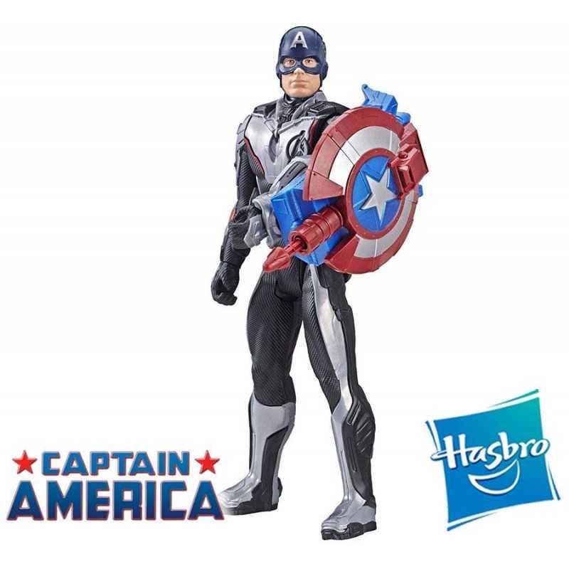 Muñeco FX Capitán América 30 cms - Hasbro - Titan Hero Power FX - Marvel Avengers