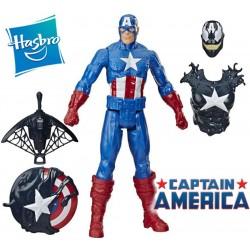 Muñeco Maximun Venom Capitan America Blast Gear 30 cms con Accesorio - Hasbro - Titan Hero - Marvel Avengers