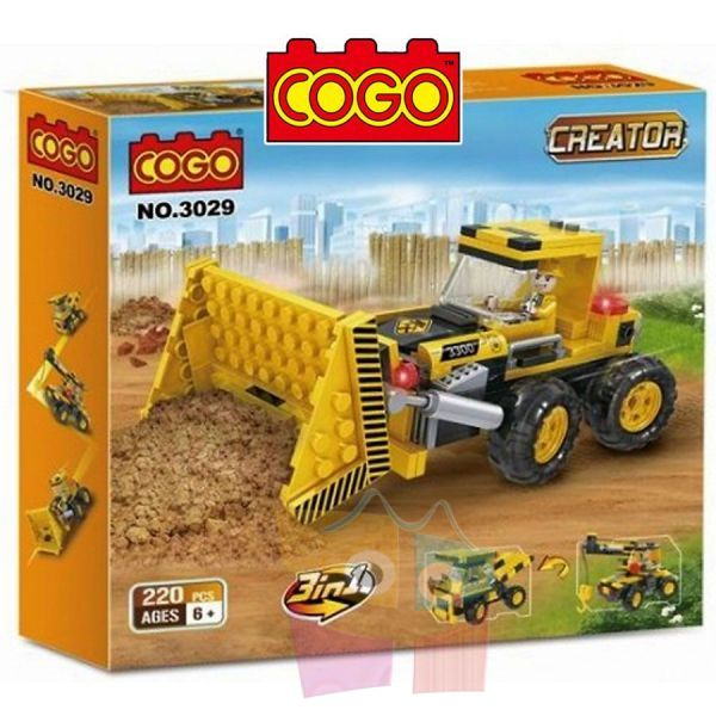 Maquinaria de Construccion  - Juego de Construcción - Cogo Blocks - 220 piezas