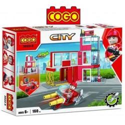 Cuartel de Bomberos 2 en 1 - Juego de Construcción - Cogo Blocks - 160 piezas