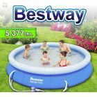 Piscina Bestway - 57112 - 5.377 Ltrs. - Redonda - Con borde inflable + Inflador