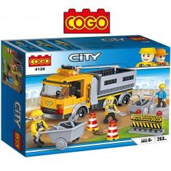 Camión de Construcción - Juego de Construcción - Cogo Blocks - 263 piezas