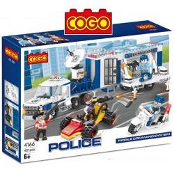 Comando Mobil Policial - Juego de Construcción - Cogo Blocks - 401 piezas