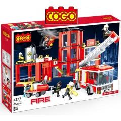 Estación de Bomberos - Juego de Construcción - Cogo Blocks - 862 piezas