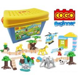 Zoologico - Juego de Construcción - Cogo Blocks PRINCIPIANTES - 112 piezas