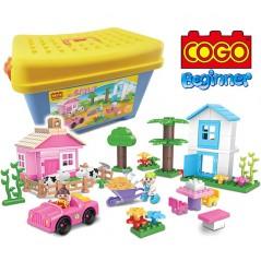 Granja Feliz - Juego de Construcción - Cogo Blocks PRINCIPIANTES - 103 piezas