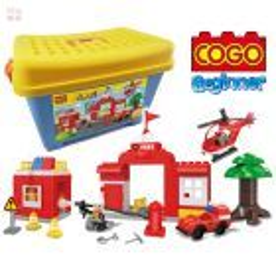 Estación de Bomberos - Juego de Construcción - Cogo Blocks PRINCIPIANTES - 76 piezas