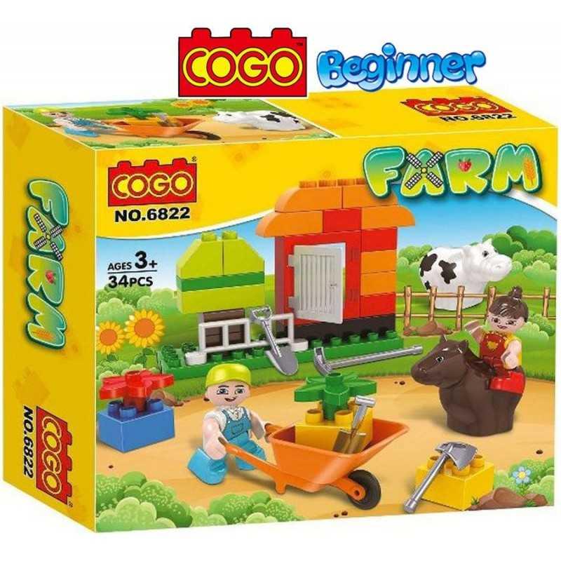Mi Pequeña Granja - Juego de Construcción - Cogo Blocks PRINCIPIANTES - 34 piezas