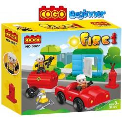 Bomberos en Acción - Juego de Construcción - Cogo Blocks PRINCIPIANTES - 31 piezas