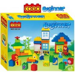 Mi Pequeña Ciudad - Juego de Construcción - Cogo Blocks PRINCIPIANTES - 73 piezas