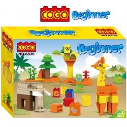 Mi Pequeña Jungla - Juego de Construcción - Cogo Blocks PRINCIPIANTES - 82 piezas