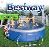 Piscina Bestway - 57148 - 13.807 Ltrs. - Redonda - Con borde inflable + Inflador