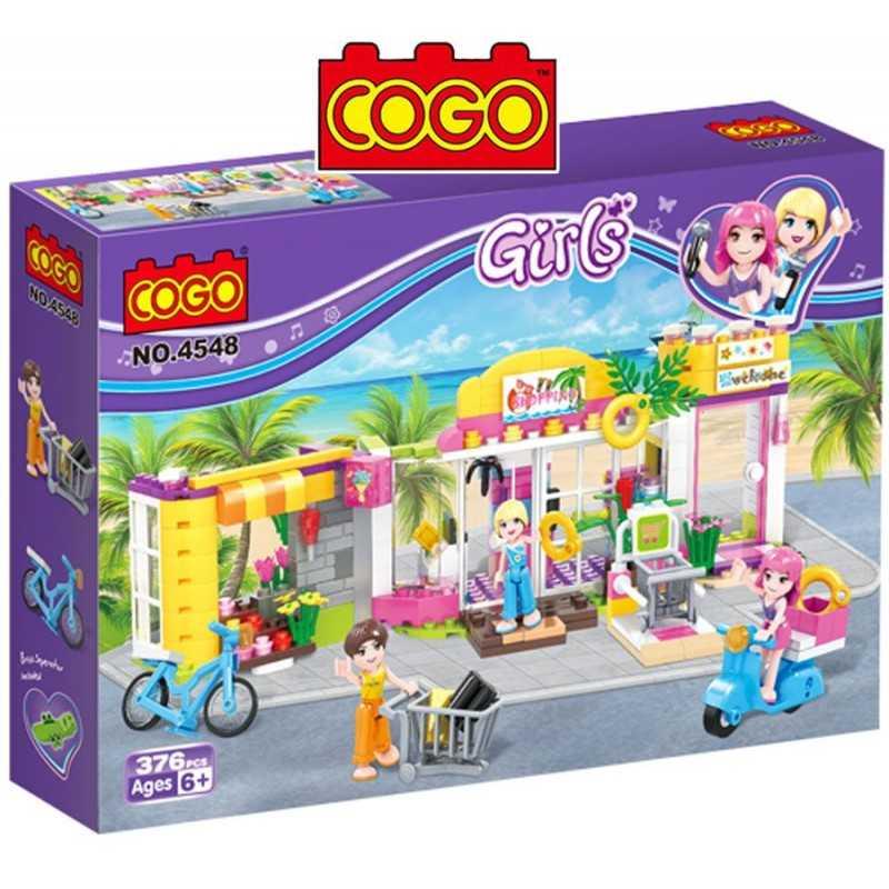 Vamos de Shopping - Juego de Construcción - Cogo Blocks - 376 piezas